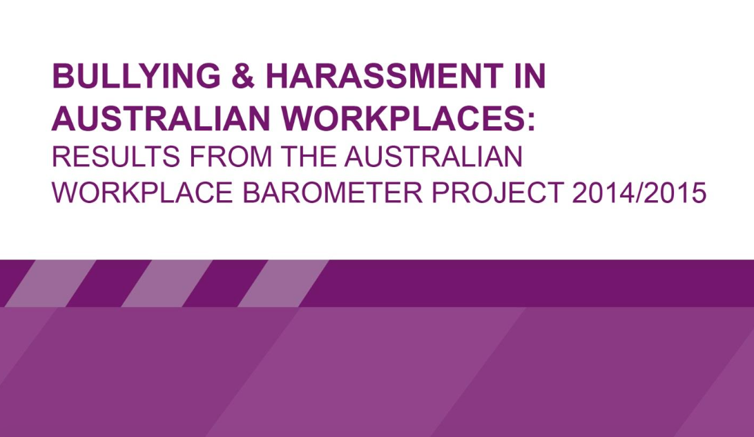 New Safe Work Australia Workplace Bullying and Harassment Research