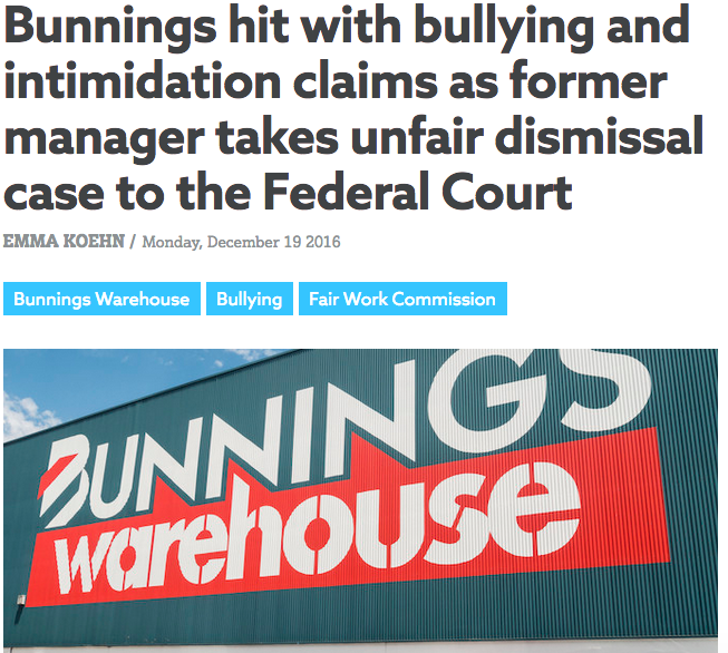 Unfair Dismissal Claim After Bullying Complaint