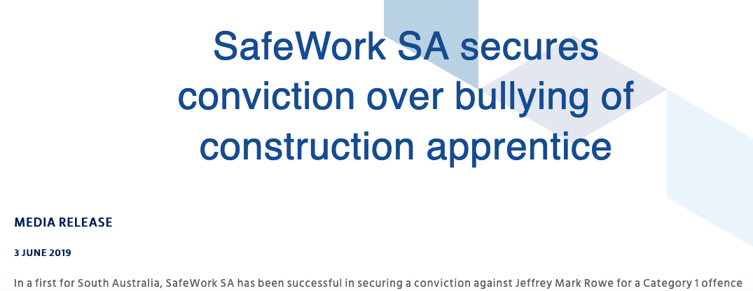 Is it important when a safe work authority doesn't get bullying right?