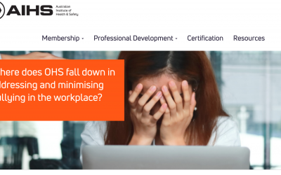 Where does OHS fall down in addressing and minimising bullying in the workplace?